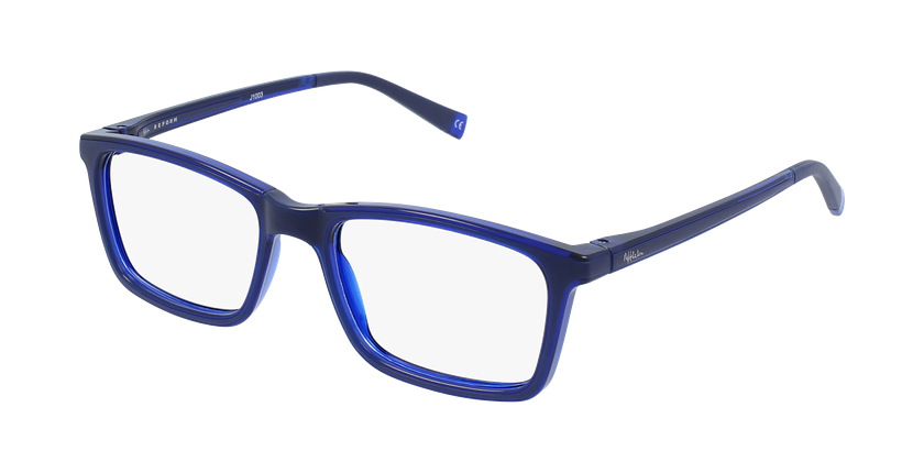 Gafas graduadas niños RFOC1 azul - vue de 3/4