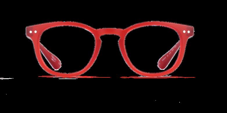 Gafas graduadas BLUE BLOCK UNISEX rojovista de frente