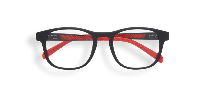Gafas graduadas DUNK negro/rojo