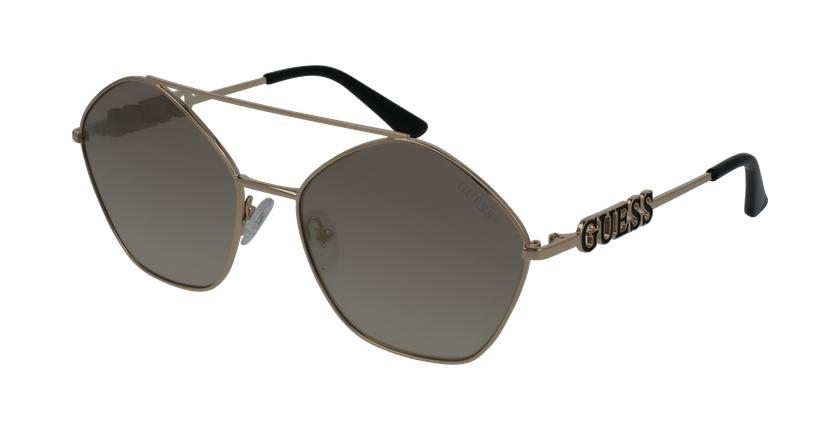 Gafas de sol mujer GU7644 dorado - vue de 3/4