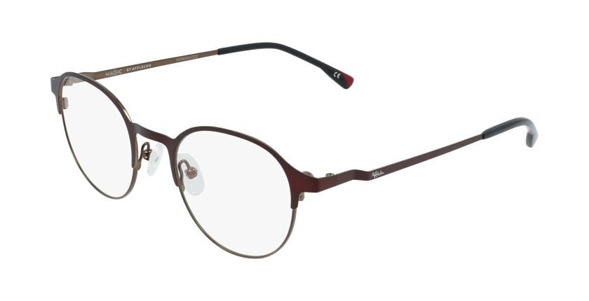 Gafas graduadas hombre MAGIC 53 BLUEBLOCK rojo/marrón - vue de 3/4