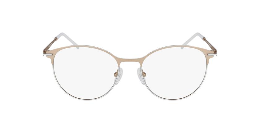 Gafas graduadas mujer MEROPE beige/blanco - vista de frente