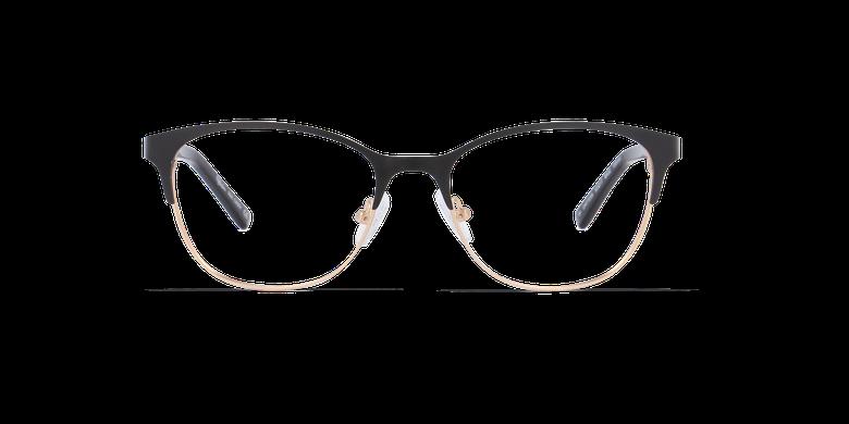 Gafas graduadas mujer CASSY negro/doradovista de frente