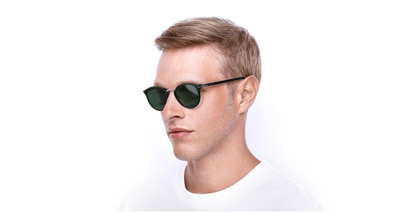 Gafas de sol hombre 0PO3210S negro - vue de 3/4