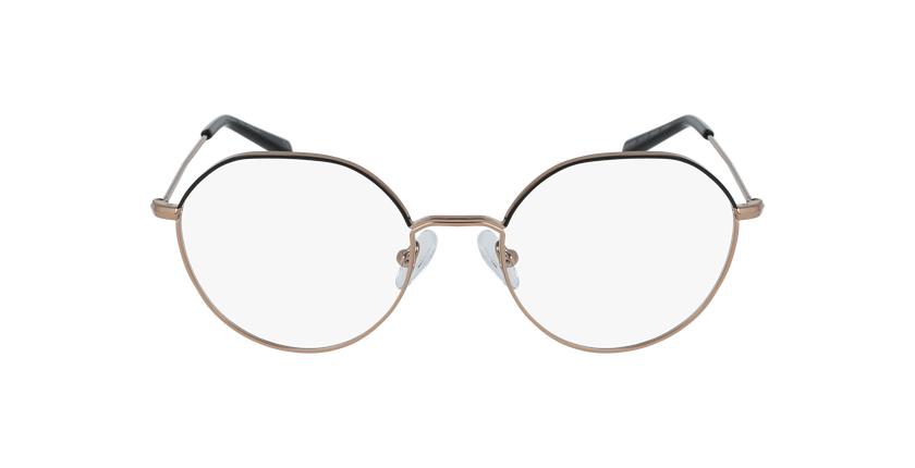 Gafas graduadas mujer ANAELLE negro/dorado - vista de frente