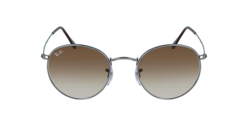 Gafas de sol ROUND METAL marrón/gris - vista de frente
