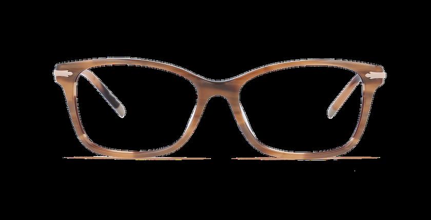 Gafas graduadas mujer ENNIS marrón - vista de frente