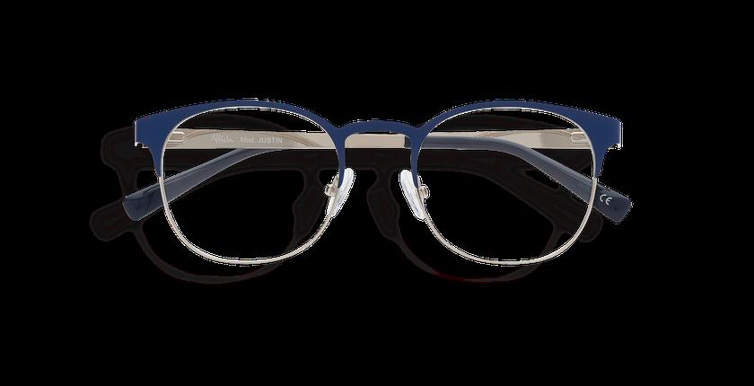 Gafas graduadas hombre JUSTIN azul/plateado - vista de frente
