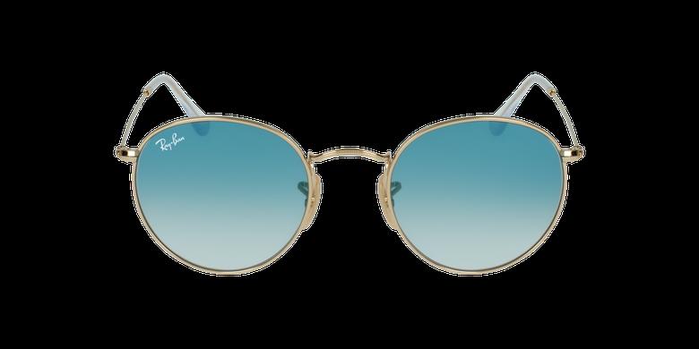 Gafas de sol ROUND METAL dorado/azulvista de frente