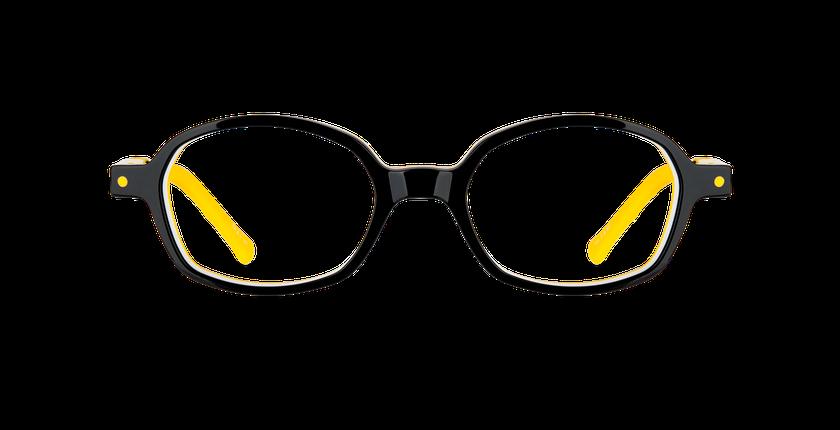Gafas graduadas niños CARL2 negro/amarillo - vista de frente