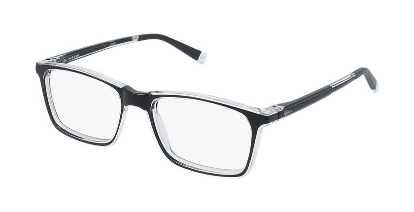 Gafas graduadas niños RFOC1 negro - vue de 3/4