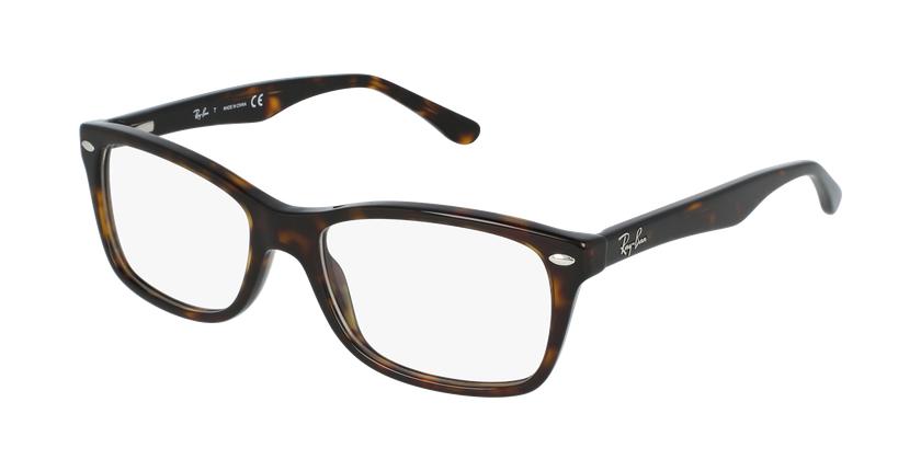 Gafas graduadas mujer RX5228 carey/carey - vue de 3/4