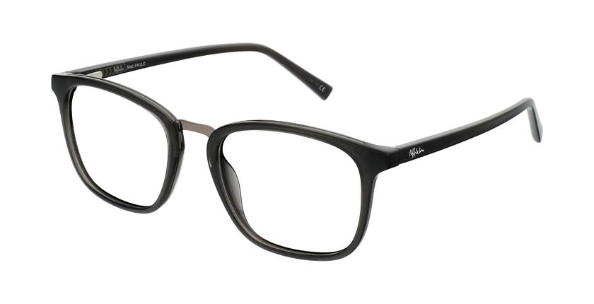 Gafas graduadas hombre OAH21613 gris/gris - vue de 3/4