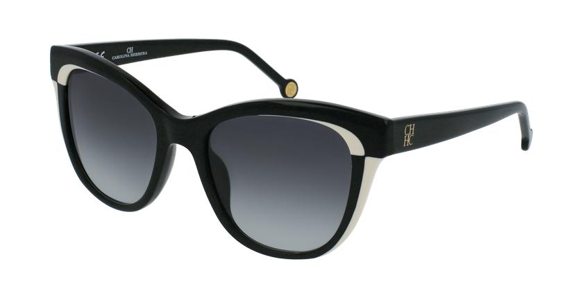 Gafas de sol mujer SHE787 negro - vue de 3/4
