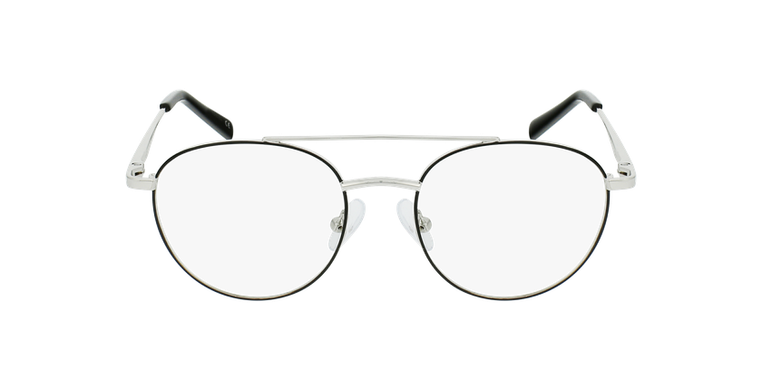 Gafas graduadas niños NINO negro/plateado - vista de frente