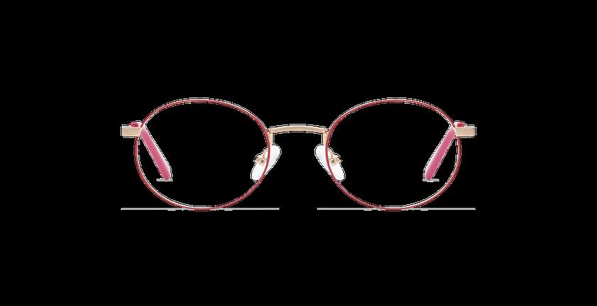 Gafas graduadas NAIM dorado/rosa - vista de frente