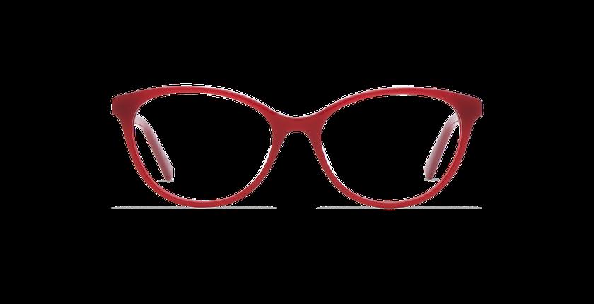 Gafas graduadas mujer SOLENE rojo - vista de frente