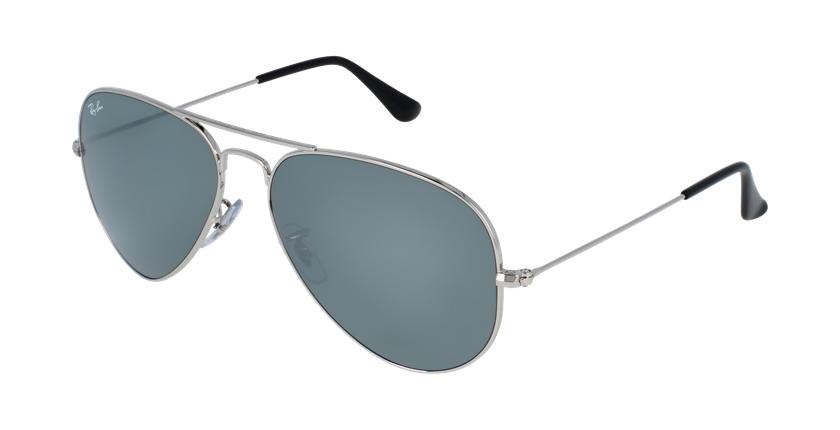 Gafas de sol AVIATOR LARGE METAL plateado/gris - vue de 3/4