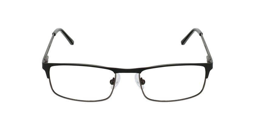 Gafas graduadas hombre LILOUAN negro/gris - vista de frente