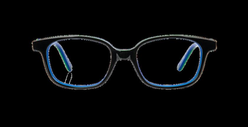 Gafas graduadas niños STUART negro/azul - vista de frente