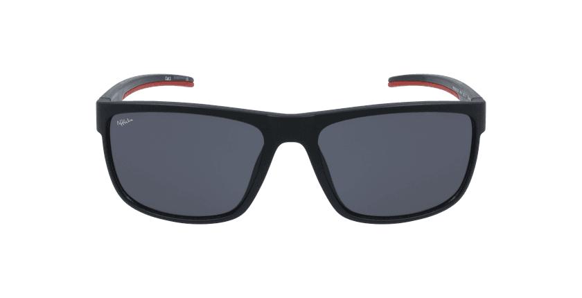 Gafas de sol hombre BAILEN negro/rojo - vista de frente