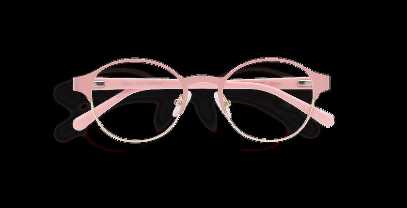 Gafas graduadas mujer CAMILLE rosa/dorado - vista de frente
