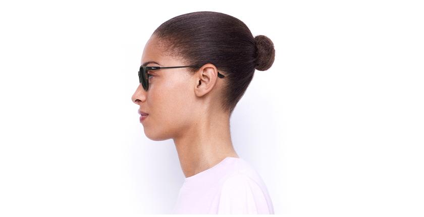 Gafas de sol mujer LILA carey/negro - vista de lado