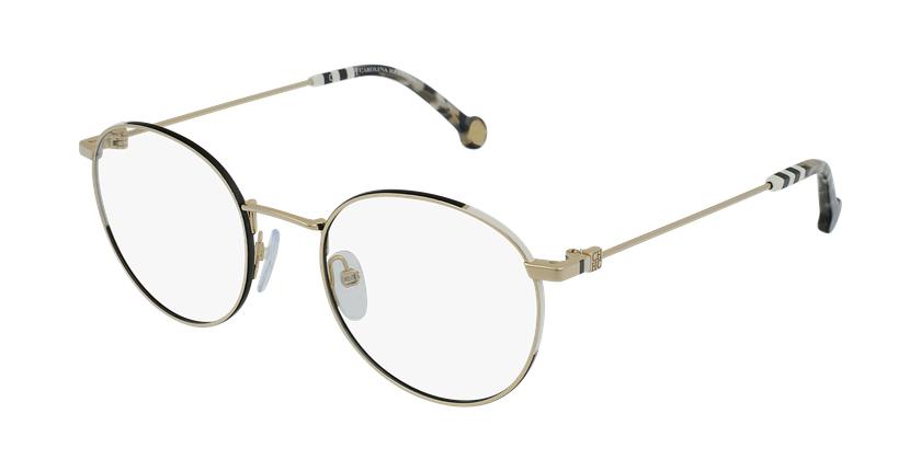 Gafas graduadas mujer VHE167 dorado/negro - vue de 3/4