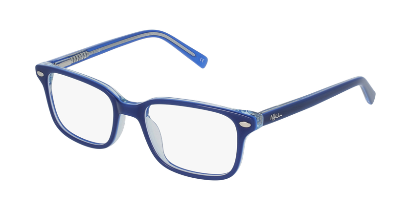 Gafas graduadas niños EDDIE azul - vue de 3/4