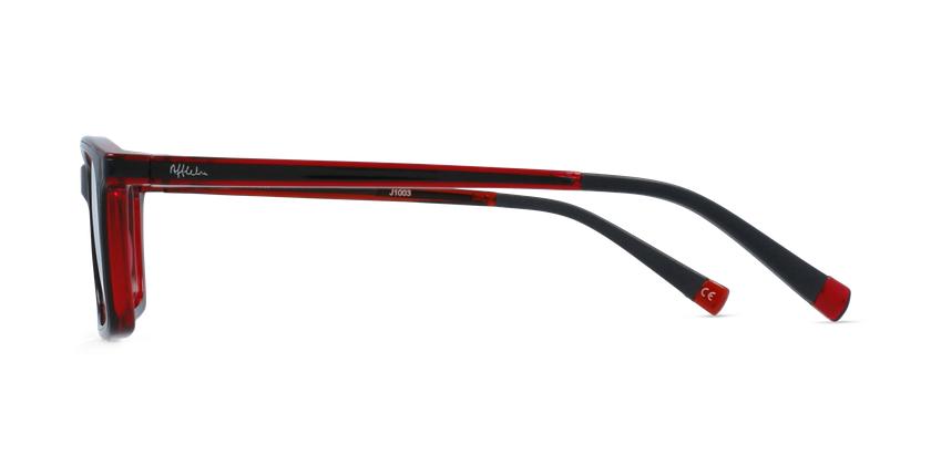 Gafas graduadas niños RFOC1 negro/rojo - vista de lado