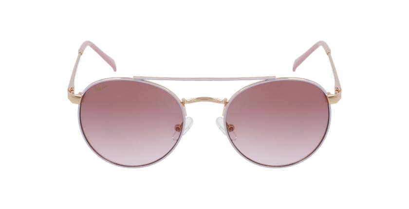 Gafas de sol niños SANTIAGO - NIÑOS rosa/dorado - vista de frente