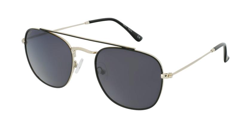 Gafas de sol hombre TOSSA negro/dorado - vue de 3/4