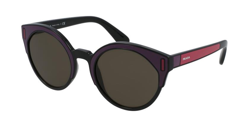 Gafas de sol mujer 0PR 03US negro/rosa - vue de 3/4