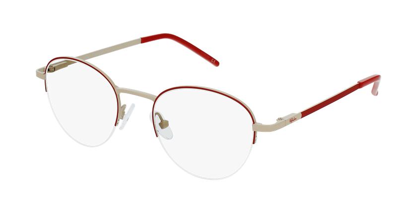 Gafas graduadas mujer DOMI rojo - vue de 3/4