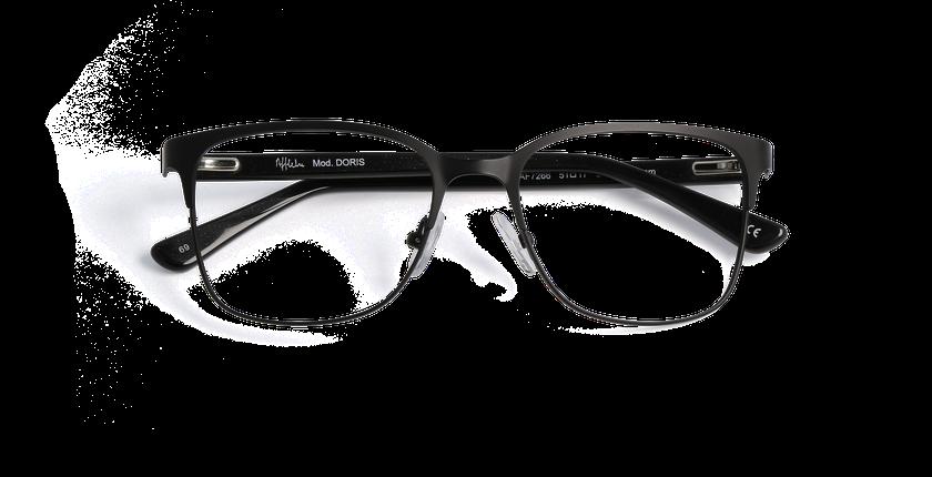 Gafas graduadas mujer DORIS negro - vista de frente