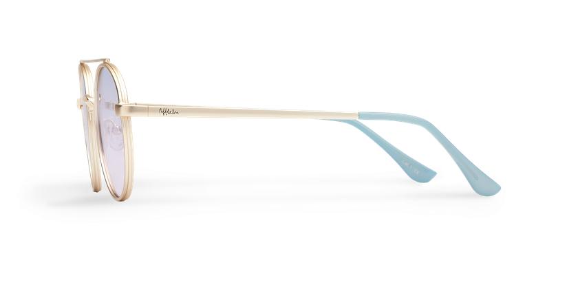 Gafas de sol MOHO dorado/morado - vista de lado