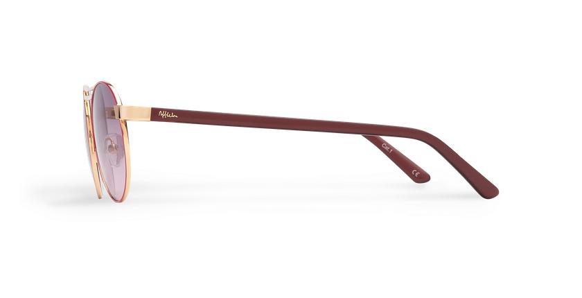 Gafas de sol mujer ROMY rosa/dorado - vista de lado