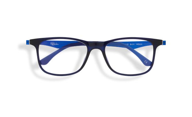 Gafas de sol hombre MAGIC 24 BLUE BLOCK azul - vista de frente