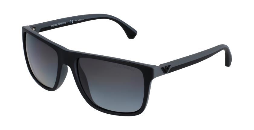 Gafas de sol hombre 0EA4033 negro/gris - vue de 3/4