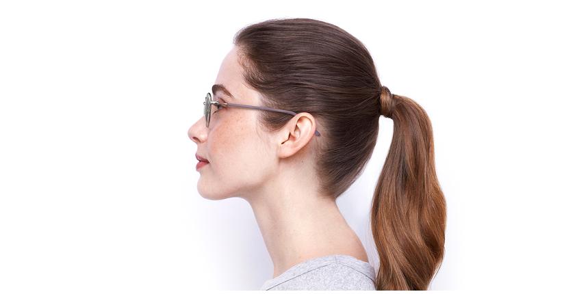 Gafas graduadas mujer NELIA negro/rosa - vista de lado