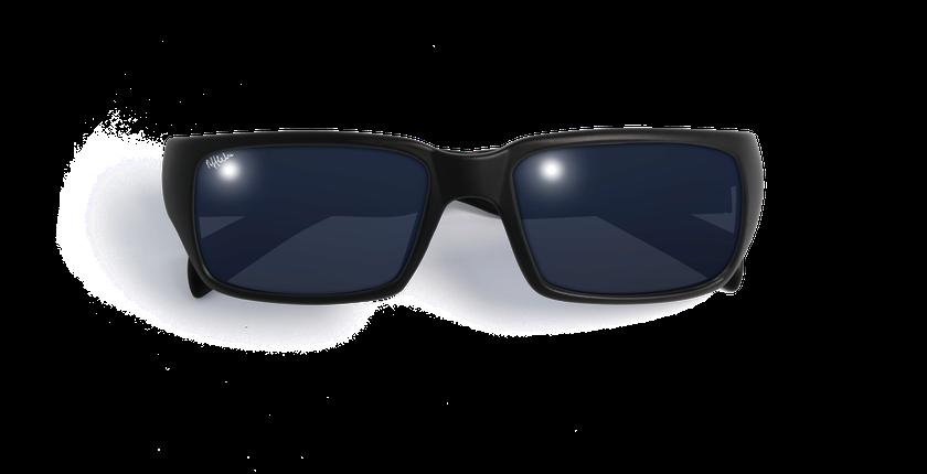 f80ffdfe20 ... Gafas de sol hombre JEREZ negro - vista de frente ...