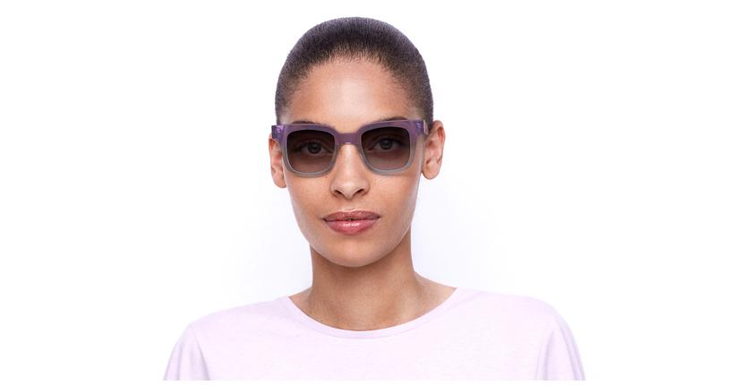 Gafas de sol mujer KAREN morado/azul - vista de frente