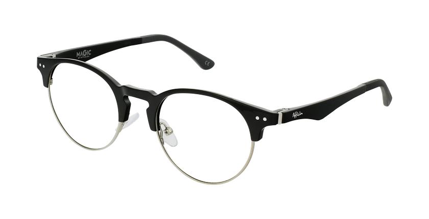 Gafas graduadas TMG93 negro/plateado - vue de 3/4