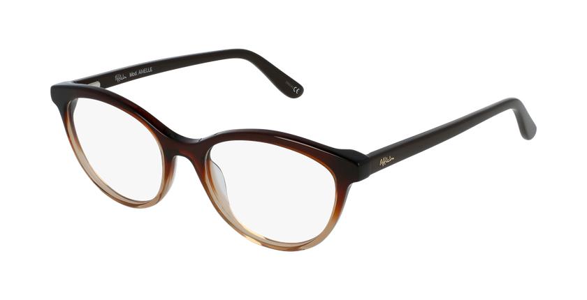 Gafas graduadas mujer AMELLE marrón - vue de 3/4