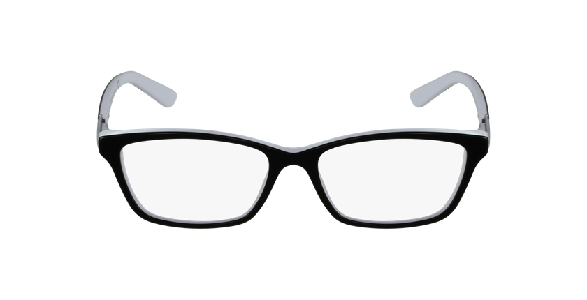 Gafas graduadas mujer 7044 negro/blanco - vista de frente