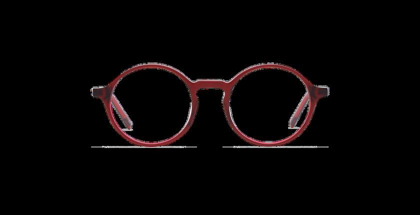 Gafas graduadas hombre DIDIER rojo - vista de frente
