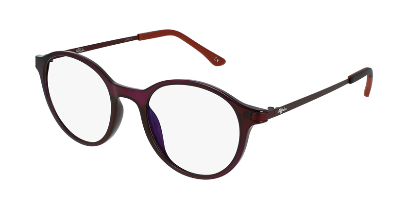 Gafas graduadas mujer MAGIC 37 BLUE BLOCK morado - vue de 3/4