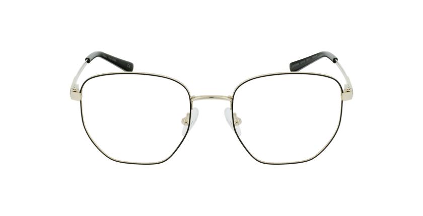 Gafas graduadas mujer ERIN negro/dorado - vista de frente