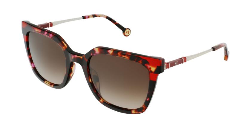 Gafas de sol mujer SHE864 marrón/rosa - vue de 3/4