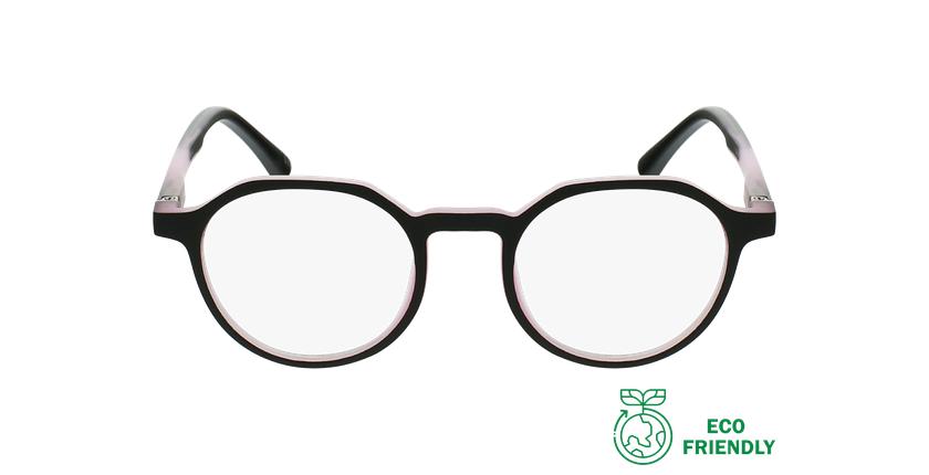 Gafas graduadas niños MAGIC 77 ECO-RESPONSABLE negro/rosa - vista de frente